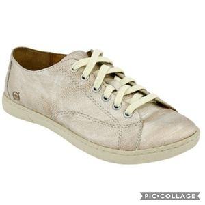 Born Kai Panna Cotta Metallic Leather Sneakers 6